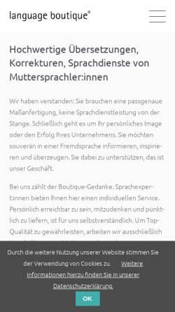 Vorschau der mobilen Webseite language-boutique.de, Language Boutique - Ulrike Müller