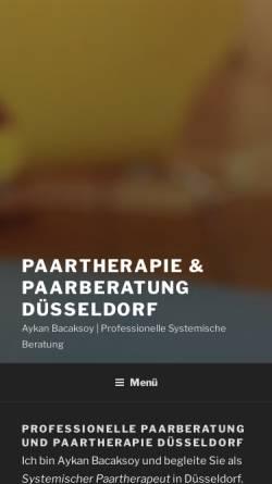 Vorschau der mobilen Webseite paarberatung-duesseldorf.de, Paartherapie & Paarberatung Düsseldorf - Aykan Bacaksoy