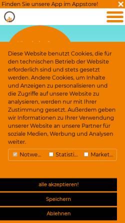 Vorschau der mobilen Webseite www.steuerberatungdortmund.de, Steuerberatung Heppe Steinborn Henczka