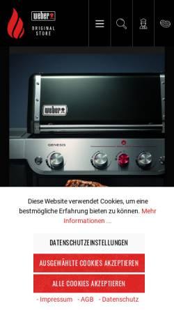 Vorschau der mobilen Webseite www.meingrillshop.at, Mein Grillshop