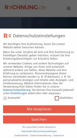 Vorschau der mobilen Webseite www.rechnung.de, rechnung.de - Decimo GmbH