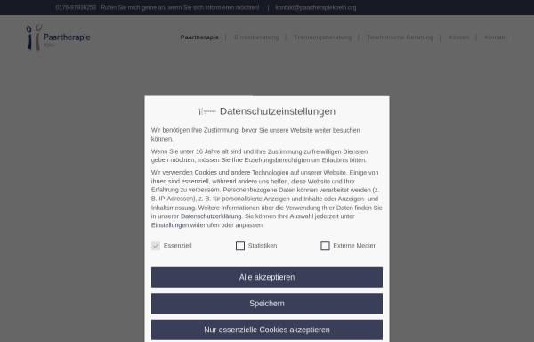 Vorschau von www.paartherapiekoeln.org, Paartherapie Köln - Nadine Pfeiffer