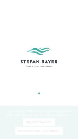 Vorschau der mobilen Webseite www.therapie-bayer.de, Stefan Bayer - Kinder und Jugendpsychotherapie