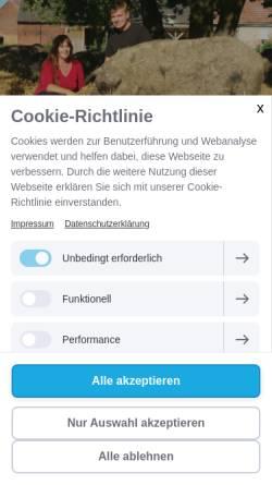 Vorschau der mobilen Webseite www.schweinemeisterei.de, Schweinemeisterei Arenzhain-Hof
