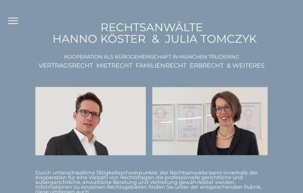 Vorschau von www.advocatonline.de, Rechtsanwalt Hanno Köster