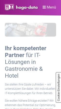 Vorschau der mobilen Webseite www.hoga-data.de, Hoga-Data EDV und Kassen für Hotel und Gastronomie GmbH