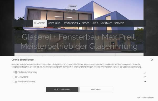 Vorschau von www.glaspreil.de, Glaserei + Fensterbau Max Preil GmbH