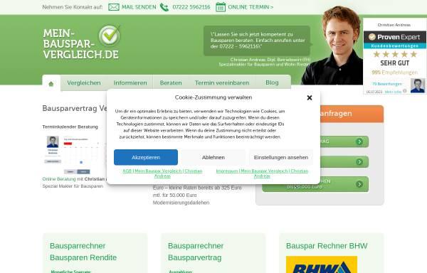 Vorschau von www.mein-bauspar-vergleich.de, Bausparvergleich von 10 Bausparkassen