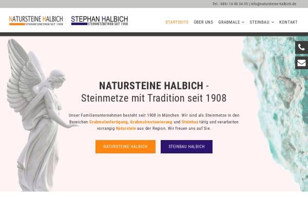 Vorschau von www.natursteine-halbich.de, Natursteine Halbich