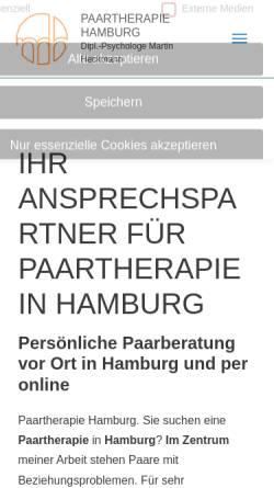 Vorschau der mobilen Webseite paartherapie-hamburg-mh.de, Paartherapie & Eheberatung Dipl.-Psychologe Martin Heckmann