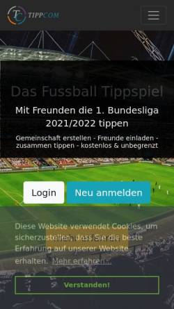 Vorschau der mobilen Webseite www.tippcom.net, Tippcom - SAW Dev - Software- & Webdevelopment