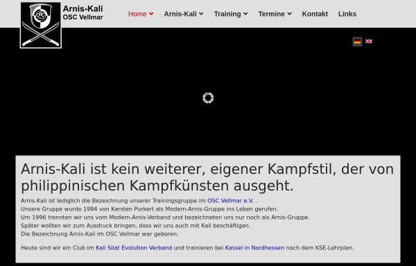 Vorschau von www.arnis-kali.de, Arnis-Kali OSC Vellmar e.V.