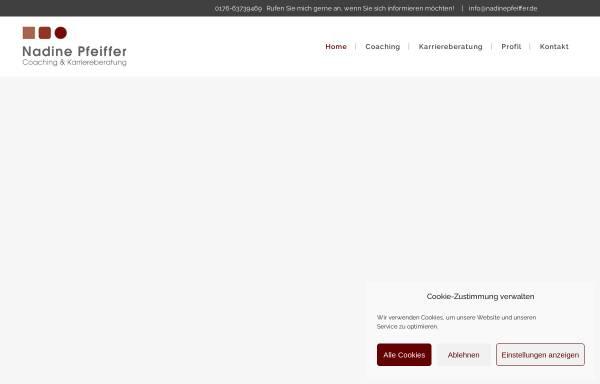 Vorschau von www.nadinepfeiffer.de, Nadine Pfeiffer - Coaching & Karriereberatung