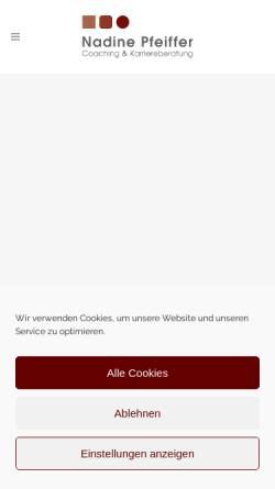 Vorschau der mobilen Webseite www.nadinepfeiffer.de, Nadine Pfeiffer - Coaching & Karriereberatung