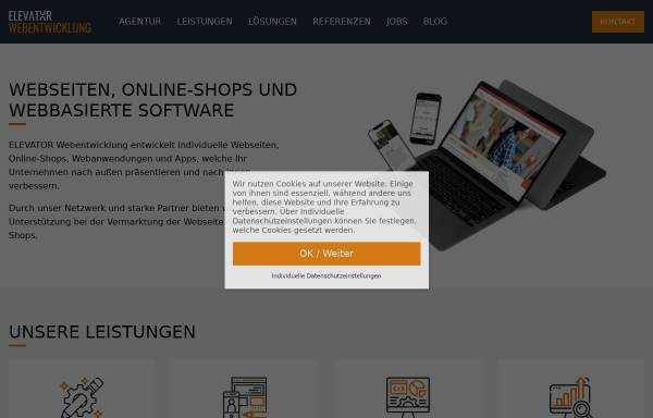 Vorschau von www.elevator-webentwicklung.de, ELEVATOR Webentwicklung