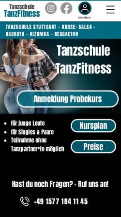 Vorschau der mobilen Webseite www.tanzfitness-stuttgart.de, Tanzschule TanzFitness
