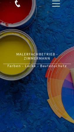 Vorschau der mobilen Webseite www.malerfachbetrieb-zimmermann.de, BTS-ZIMMERMANN