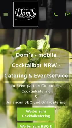 Vorschau der mobilen Webseite www.mobile-cocktailbar.nrw, Mobile Cocktailbar NRW