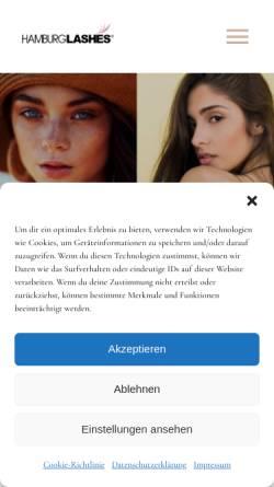 Vorschau der mobilen Webseite hamburglashes.net, HAMBURGLASHES