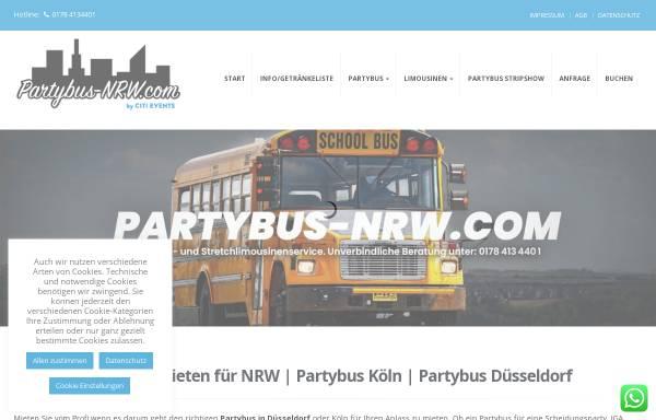Vorschau von www.partybus-nrw.com, Partybus NRW - Agentur Citievent