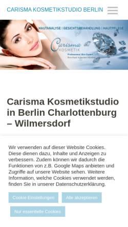 Vorschau der mobilen Webseite www.kosmetik-institut-berlin.com, Kosmetik Praxis Carisma