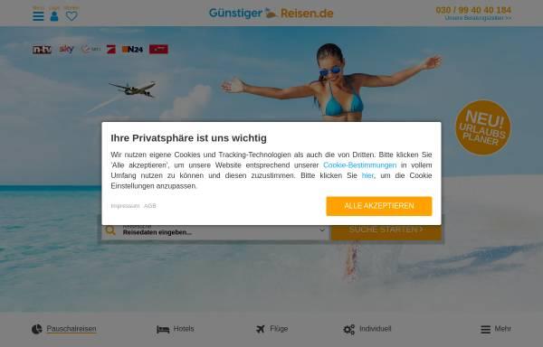 Vorschau von www.xn--gnstiger-reisen-zvb.de, Günstiger Reisen