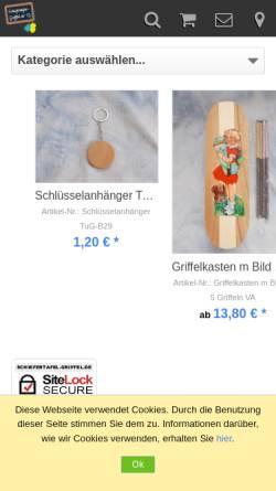 Vorschau der mobilen Webseite www.schiefertafel-griffel.de, Schiefertafel Griffel - Andrea Vogel