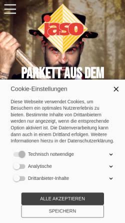 Vorschau der mobilen Webseite www.jaso.de, jaso - Jakob Schmid Söhne GmbH & Co KG