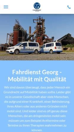 Vorschau der mobilen Webseite www.fahrdienst-georg.de, Fahrdienst Georg GmbH