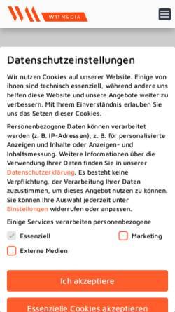 Vorschau der mobilen Webseite www.w11media.at, W11media