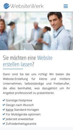 Vorschau der mobilen Webseite www.websitewerk.de, WebsiteWerk