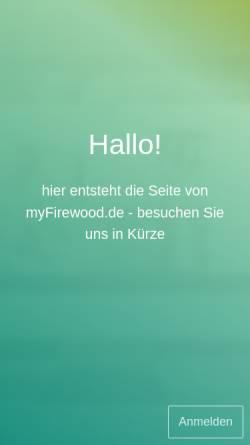 Vorschau der mobilen Webseite www.myfirewood.de, Brennholzhandel myFirewood