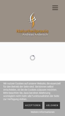 Vorschau der mobilen Webseite www.andreas-andersch.de, Naturheilpraxis Andreas Andersch