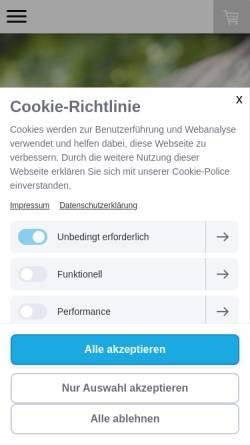 Vorschau der mobilen Webseite www.fraeulein-wunderblume.de, Fräulein Wunderblume