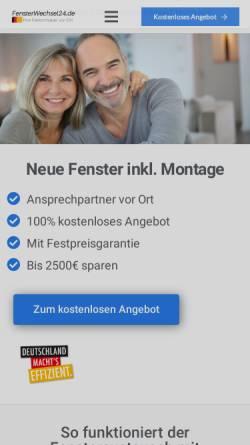 Vorschau der mobilen Webseite fensterwechsel24.de, FensterWechsel24.de