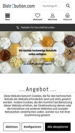 Vorschau der mobilen Webseite www.distrebution.com, DistrEbution GmbH