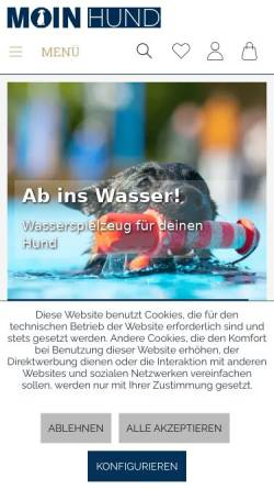 Vorschau der mobilen Webseite www.moin-hund.de, Moin Hund