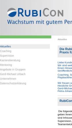 Vorschau der mobilen Webseite www.rubicon-online.de, RubiCon GmbH