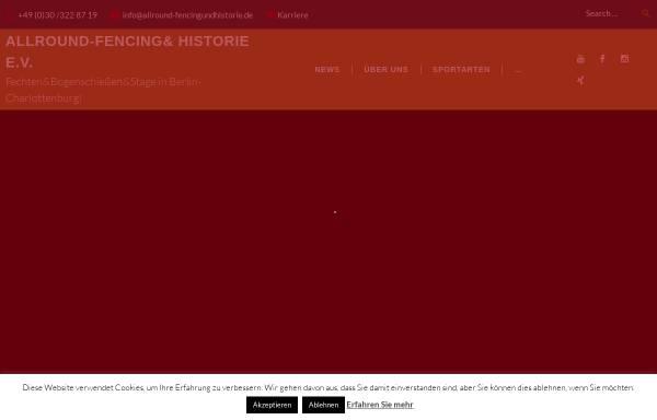 Vorschau von www.allround-fencingundhistorie.de, Allround-Fencing&Historie e.V.