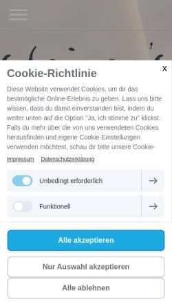 Vorschau der mobilen Webseite www.steiners.de, Steiner's