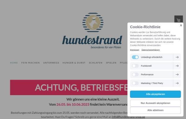 Vorschau von www.hundestrand-shop.de, hundestrand shop