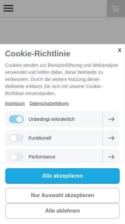 Vorschau der mobilen Webseite www.hundestrand-shop.de, hundestrand shop