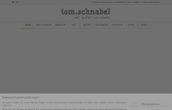 Vorschau von tom-schnabel.de, Webdesign Tom Schnabel