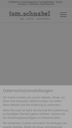 Vorschau der mobilen Webseite tom-schnabel.de, Webdesign Tom Schnabel