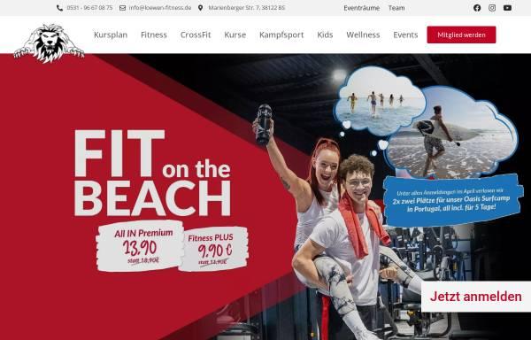 Vorschau von www.loewen-fitness.de, Löwen Fitnessstudio