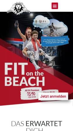 Vorschau der mobilen Webseite www.loewen-fitness.de, Löwen Fitnessstudio