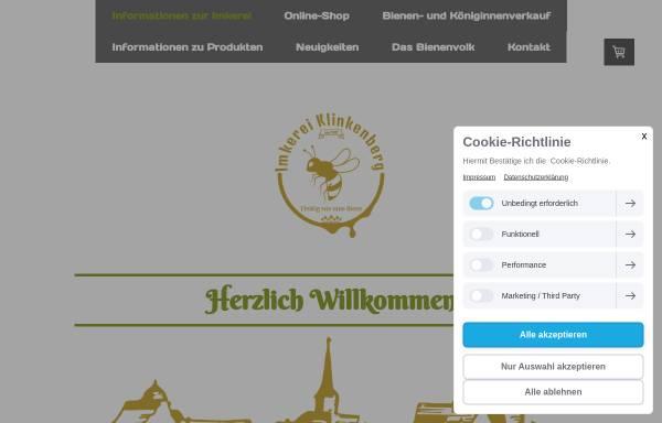 Vorschau von www.imkerei-klinkenberg.de, Imkerei Klinkenberg
