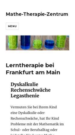 Vorschau der mobilen Webseite mathe-therapie-zentrum.de, Mathe-Therapie-Zentrum