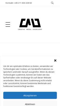 Vorschau der mobilen Webseite cm-duesseldorf.de, Creative Media Düsseldorf