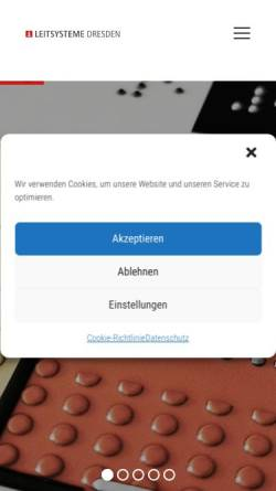 Vorschau der mobilen Webseite www.leitsysteme-dresden.de, Leitsysteme Dresden